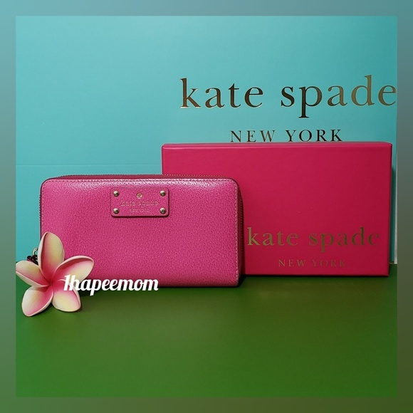 kate spade Handbags - kate spade Zip Around Wallet With Box Hot Pink